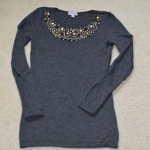 A Pea in the Pod Embellished Wool Sweater size XS
